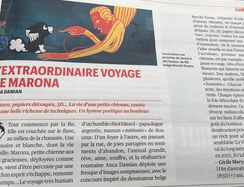 """""""L'Extraordinaire Voyage de Marona"""" : un hymne poétique au bonheur"""